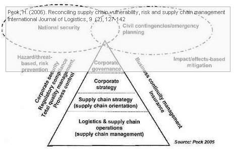 Peck, H. (2006). Reconciling supply chain vulnerability, risk and supply chain management